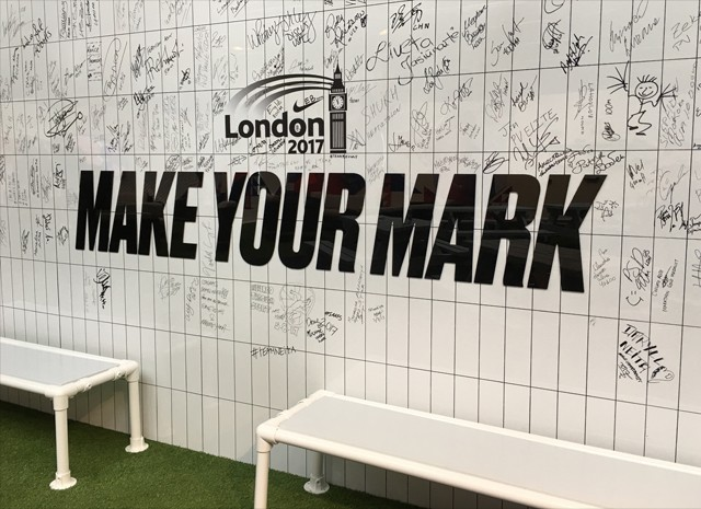 Nike London 2017 Make Your Mark Wall