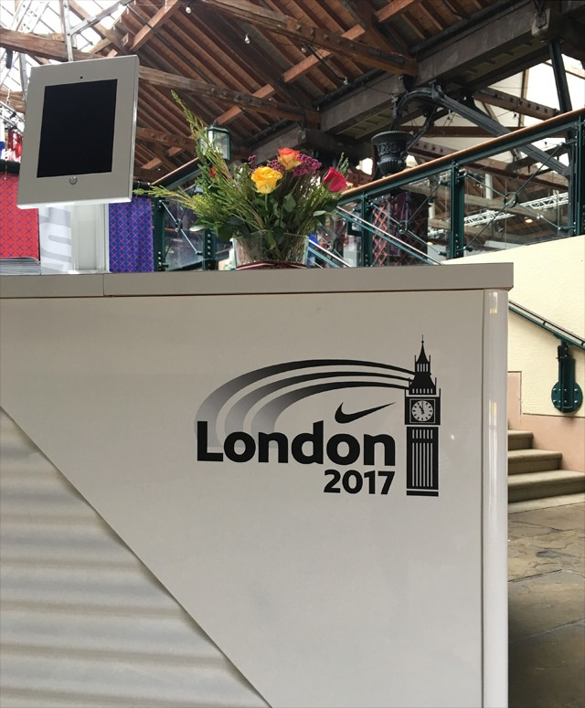 Nike London 2017 Reception Desk